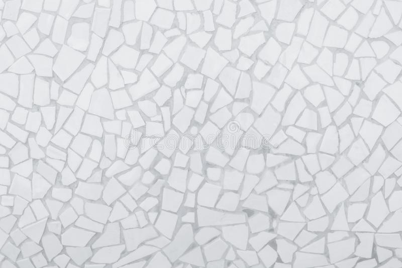 Broken tiles mosaic seamless pattern. White and Grey the tile wall high resolution real photo or brick seamless and texture stock image