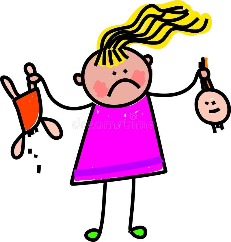 Download Broken Toy stock illustration. Illustration of unhappy - 25151990