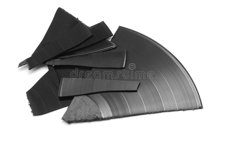 broken vinyl royaltyfria foton