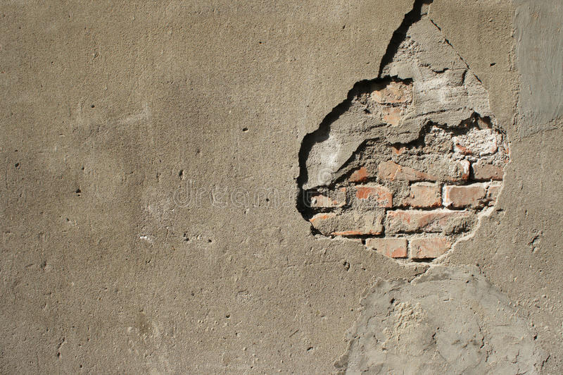 Download Broken Wall stock photo. Image of cement, damage, home - 18891054