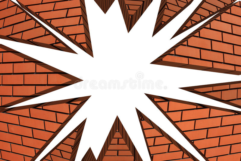 Broken wall explosion stock illustration