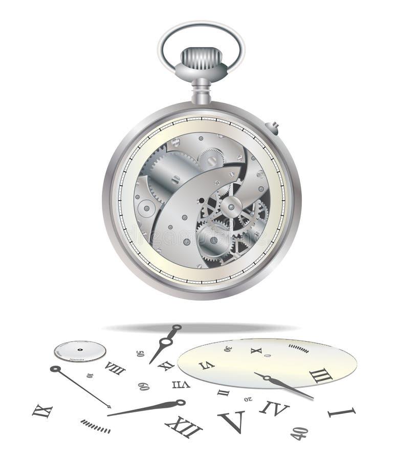 Broken watch royalty free illustration