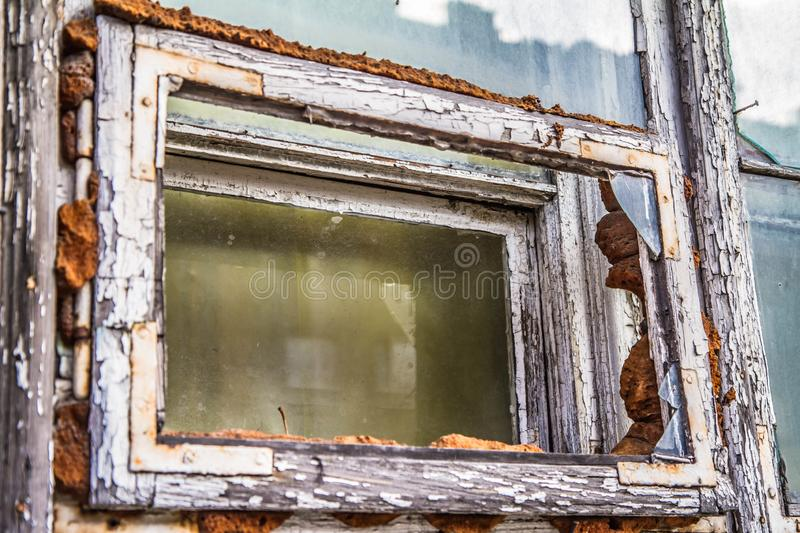 Broken window stock photos