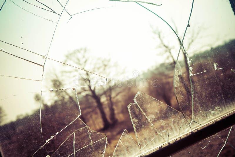 A Broken window royalty free stock photos