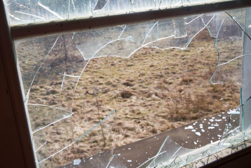A Broken window royalty free stock photo