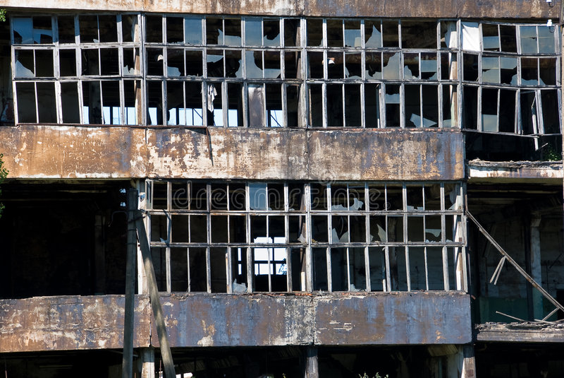 Download Broken windows stock image. Image of demolition, demolishing - 6530651