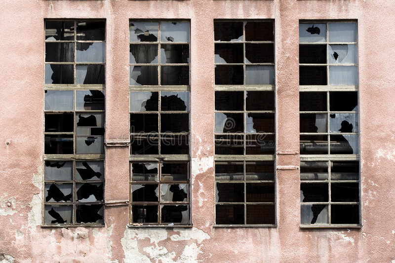 Download Broken Windows On Old Warehouse Stock Photos - Image: 6722273