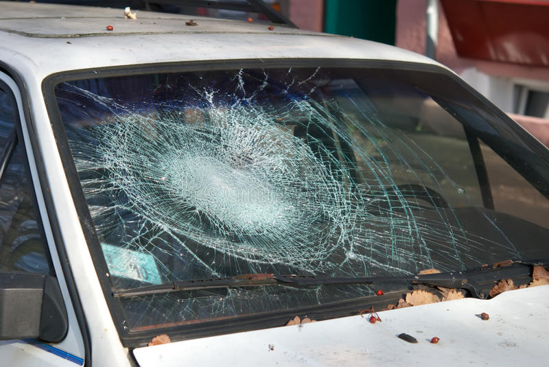 Download Broken windshield stock image. Image of splinters, emergency - 21940407