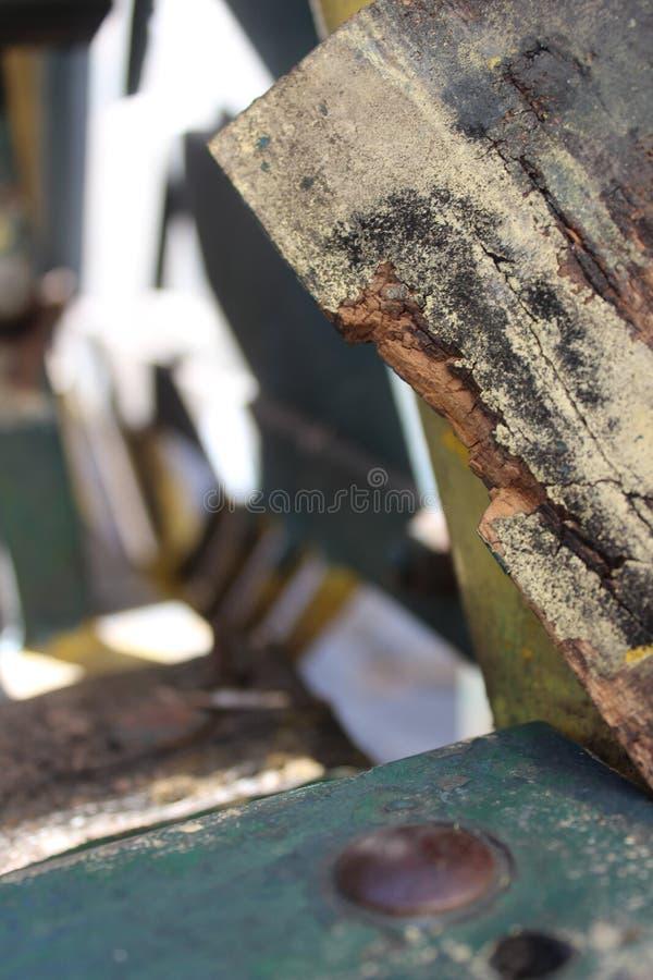Broken Wood bench of detail royalty free stock image