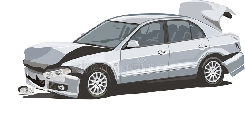 Download Brokenned car stock vector. Illustration of distance, crash - 6318607