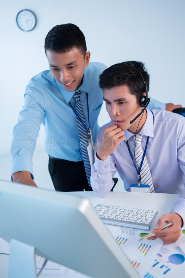 Broker Colleagues Stock Photography
