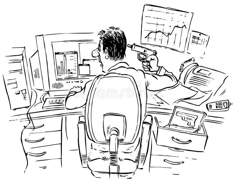 Download Broker After Failed Speculation Stock Illustration - Image: 12251499