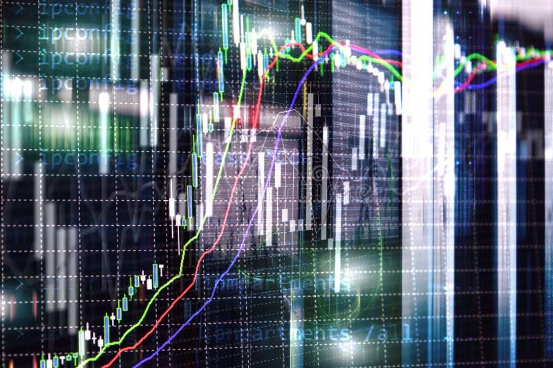 Broker monitoring center. Stock market management center. Trading algorithms on server room.  royalty free stock image