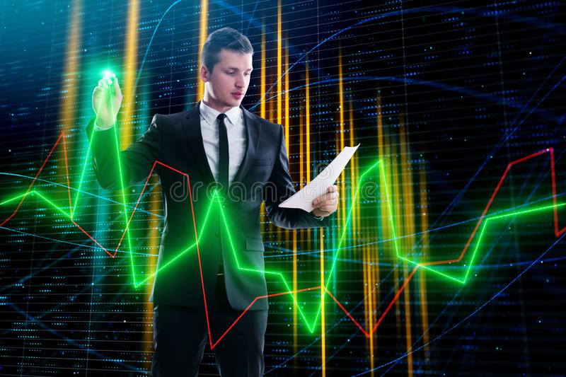 Broker and stock concept royalty free stock photography
