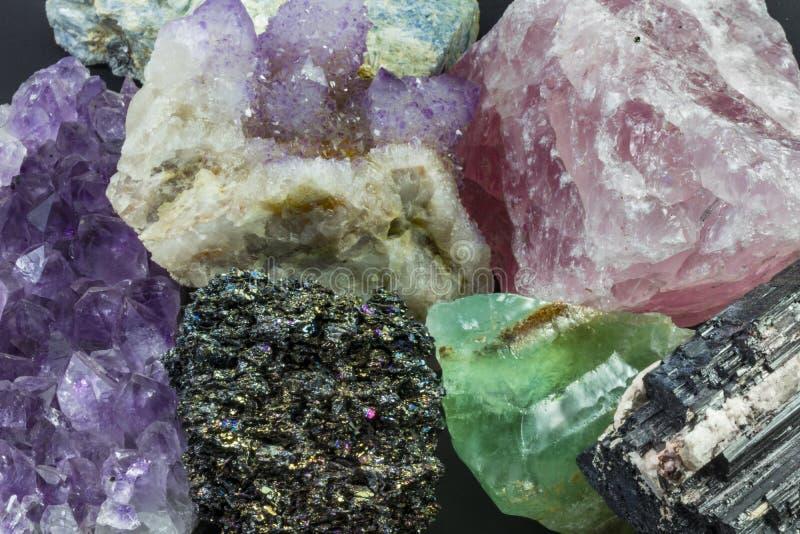 Brokken Diverse Kristallen royalty-vrije stock afbeelding