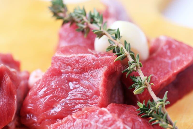 Brokken van rood vlees royalty-vrije stock afbeelding