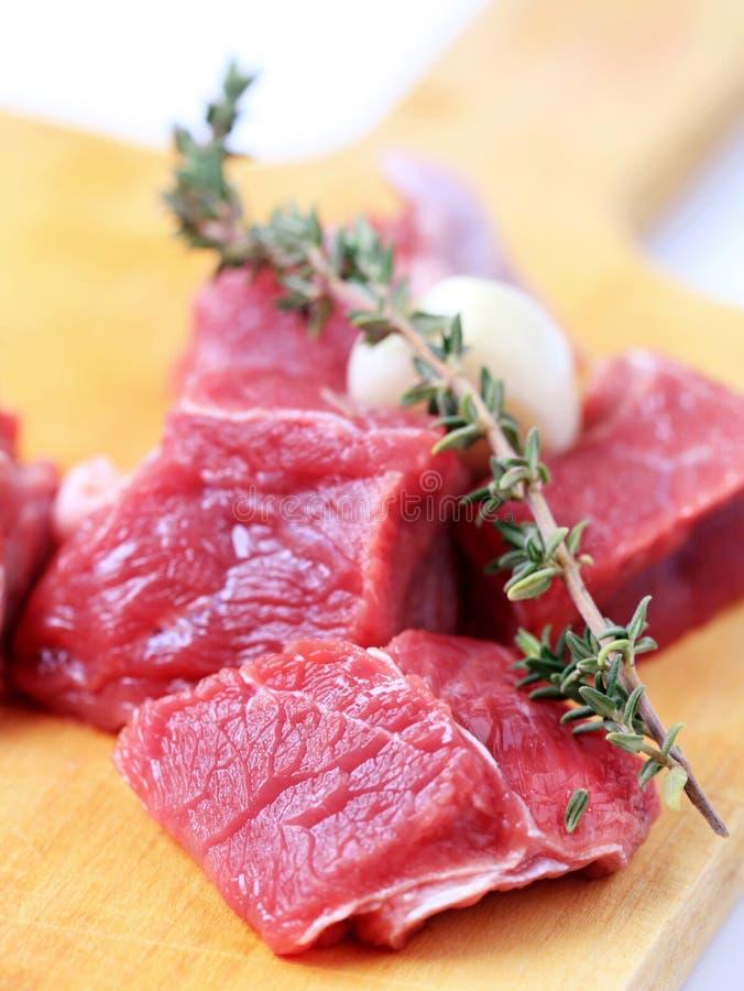 Brokken van rundvleesvlees stock foto