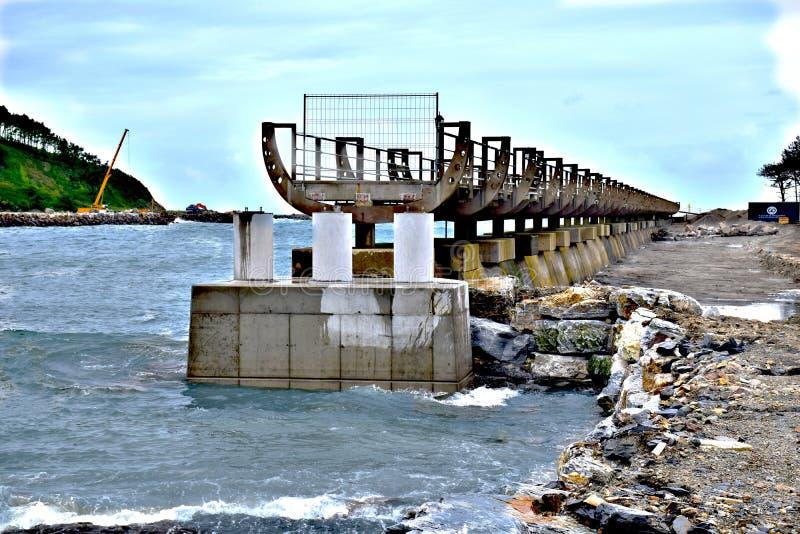 brokonstruktion under fotografering för bildbyråer