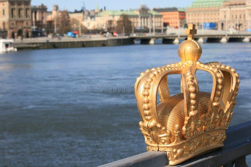 brokronakunglig person skeppsholmen stockholm svensk royaltyfria foton