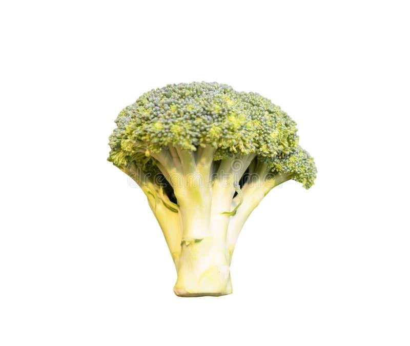 Brokuły odizolowywający na białym tle kartoteka z ścinek ścieżką fotografia stock