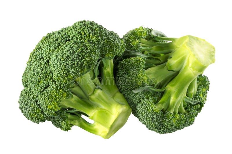 Brokuły odizolowywali białego tło bez cienia ścinku ścieżki zdjęcie stock