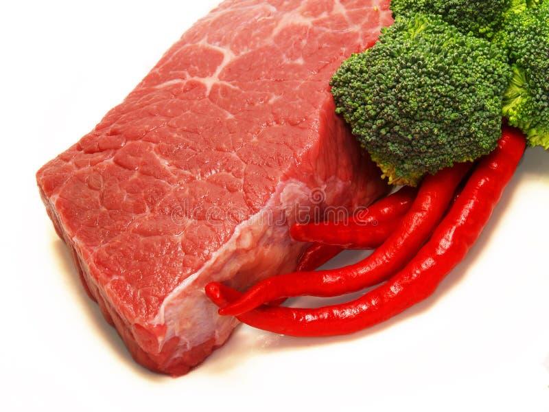 brokułów chili mięso zdjęcia royalty free