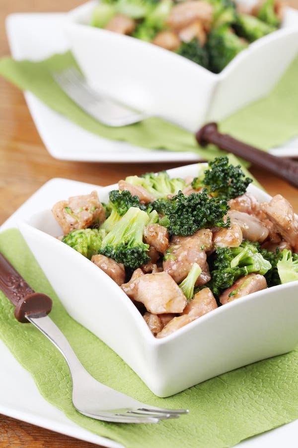 brokułów kurczaka dłoniaka fertanie obraz stock
