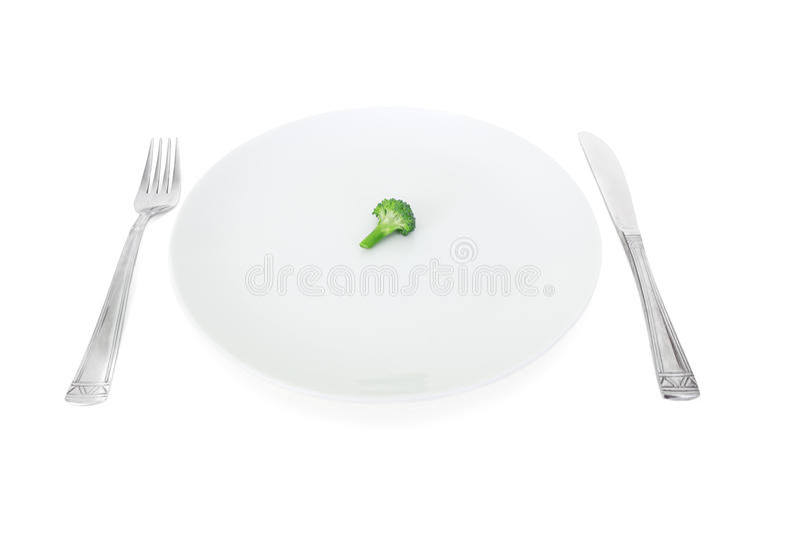 brokuły diet talerza mój biel obraz stock