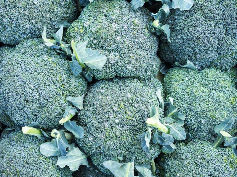 Brokuły dla sprzedaży, Grecki Uliczny rynek zdjęcia stock