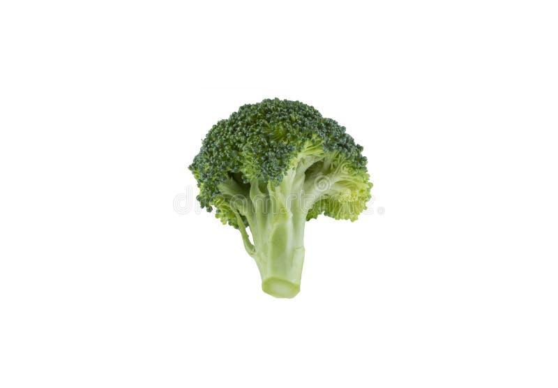 Brokuły odizolowywający na białym tle z ścinek ścieżką zdjęcie stock