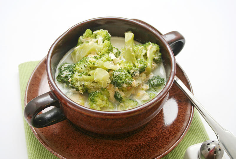 Brokuły zupni obraz stock