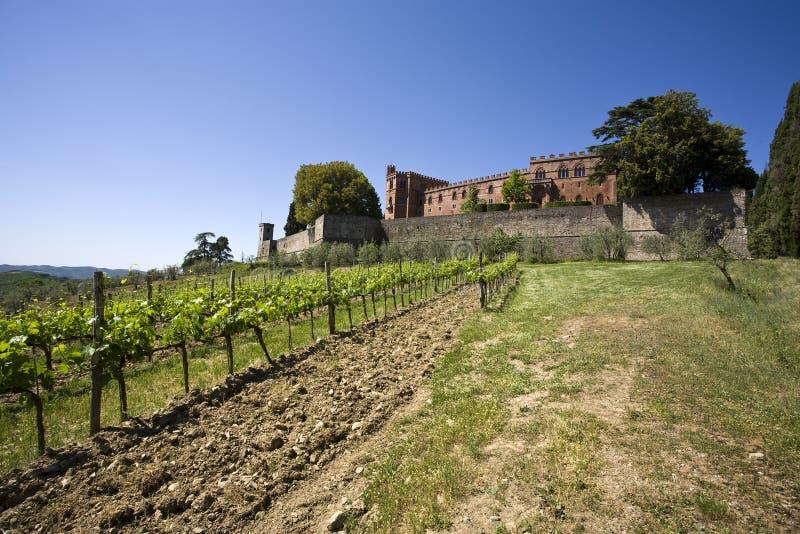 brolio castello di Italy Tuscany obrazy royalty free