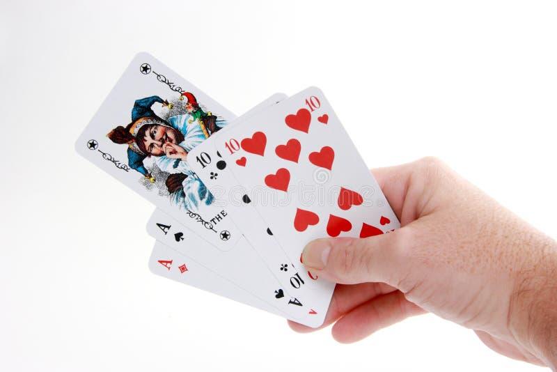 Bromista del póker imagenes de archivo