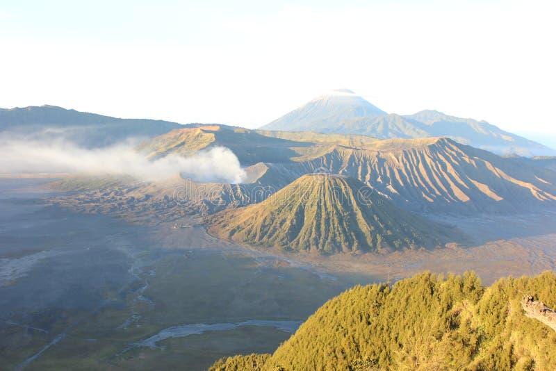 Bromo awake. Pic of bromo taken almost eruption stock photo