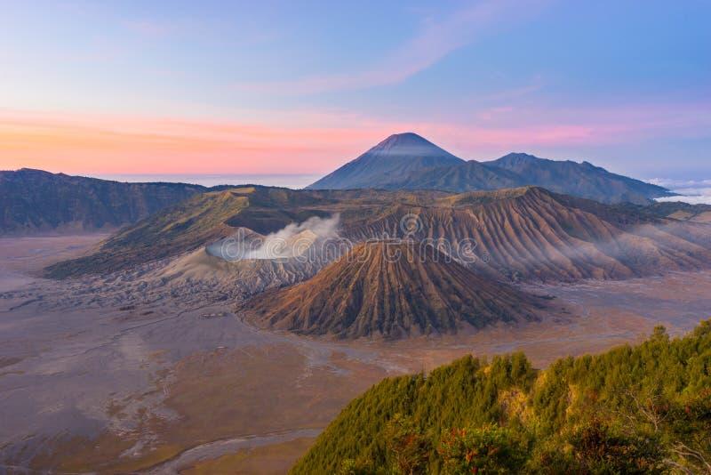 Bromo, Batok, Semeru wulkanu góra obrazy stock