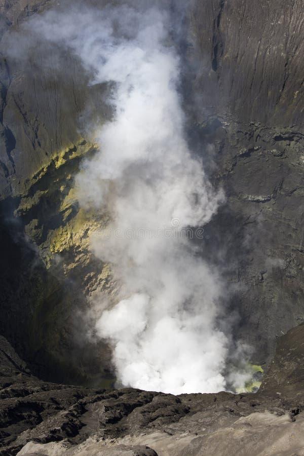 Bromo binnen kratermening stock foto's