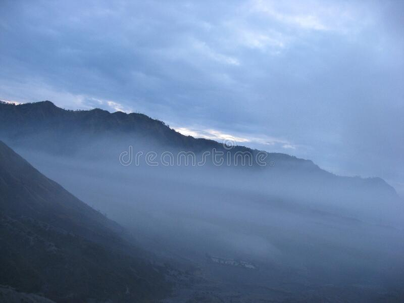 Bromo dawn morning light. Travel view of Bromo featuring dawn morning light. The image location is Java in Asia royalty free stock photo