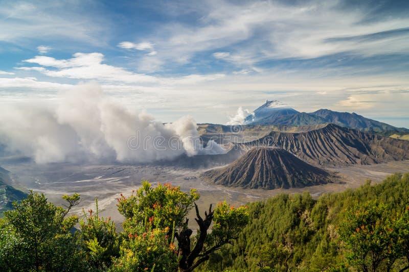 Bromo after eruption royalty free stock photos