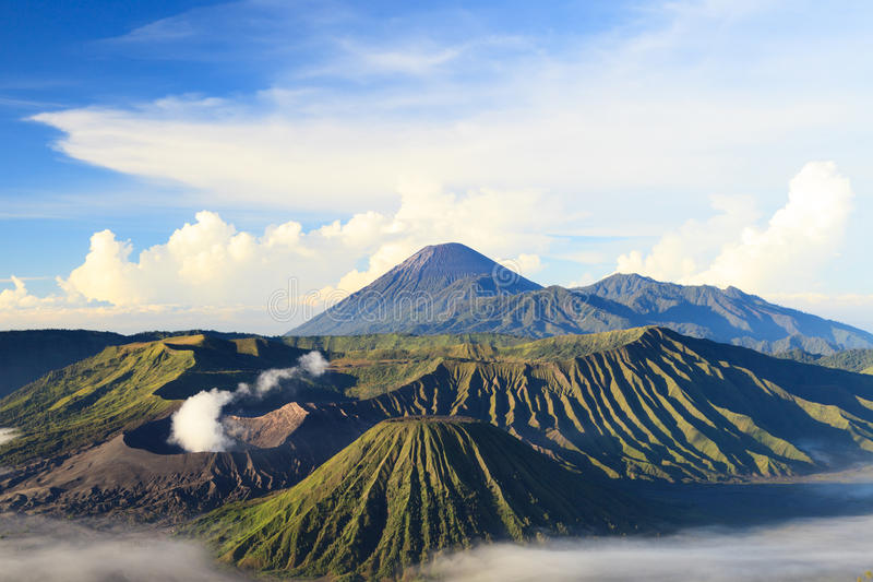 Bromo Mountain in Tengger Semeru National Park. East Java, Indonesia royalty free stock photo