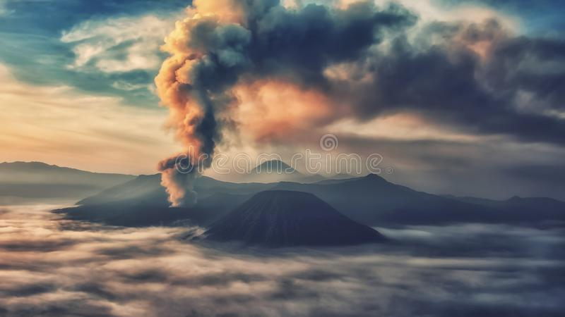 Bromo nationalpark arkivfoton