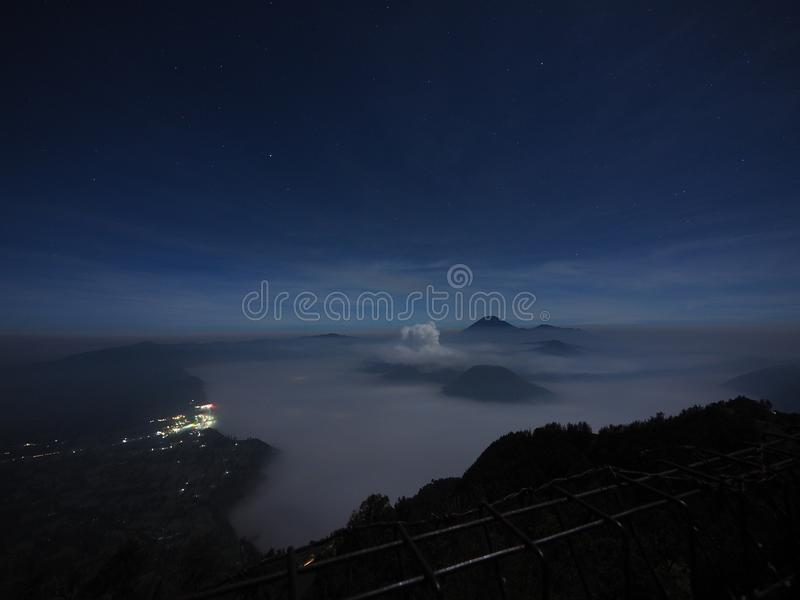 Bromo in in the night royalty free stock image
