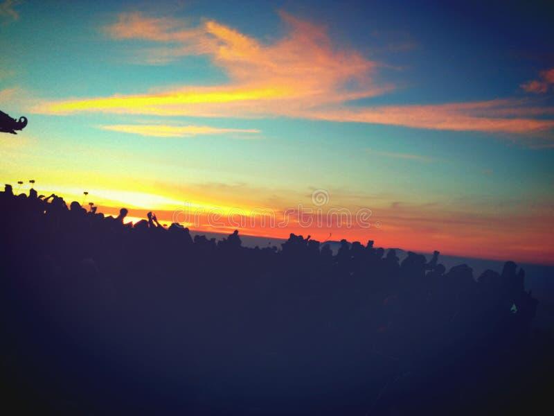 Bromo-Sonnenaufgang lizenzfreies stockbild