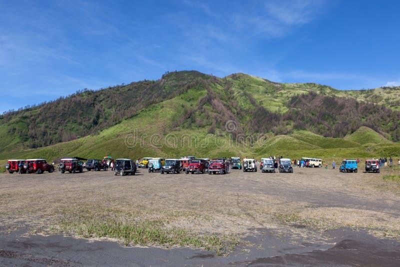 Bromo-Tengger-Semeru NP, JAVA/INDONESIA - abril imagens de stock