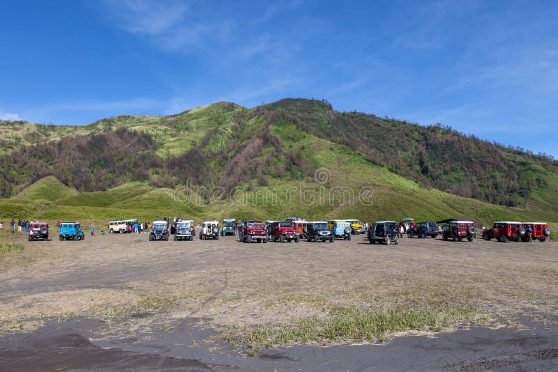 Bromo-Tengger-Semeru NP, JAVA/INDONESIA - abril imagem de stock