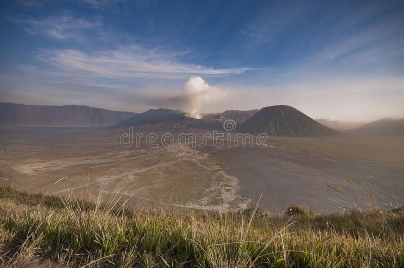 Bromo Tengger volcanic area at Surabaya tourist attractions. Bromo tengger volcanic area at, rural, sunset, sunrise, volcanoes, grass stock photos