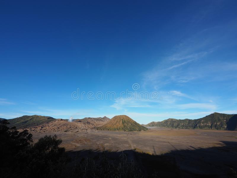 bromo vacano in the noon royalty free stock images