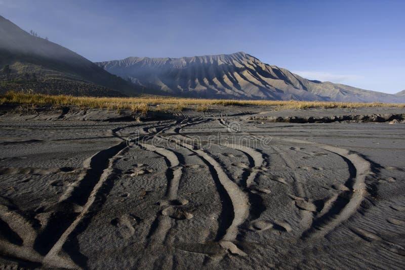 Bromo volcano. Mt. Bromo volcano, Sea of Sand, East Java, Indonesia stock images
