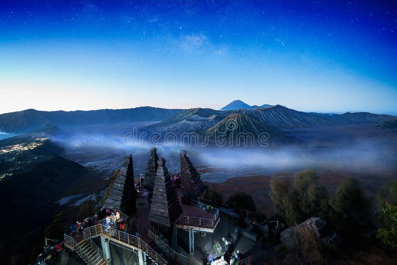 Bromo Volcano. Mt Bromo Volcano, Surabaya Indonesia royalty free stock images