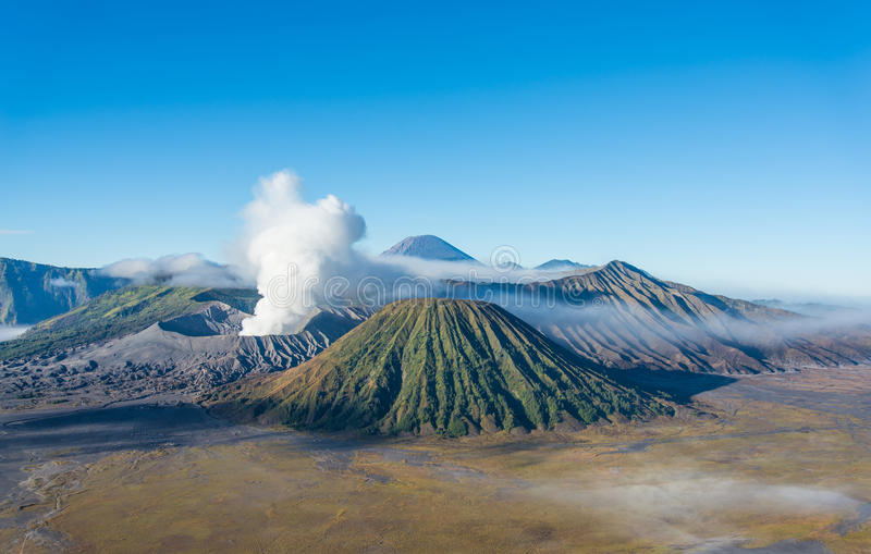 Bromo volcano, Tengger Semeru National Park, East Java, Indonesi. Bromo volcano in Tengger Semeru National Park, East Java, Indonesia stock photography