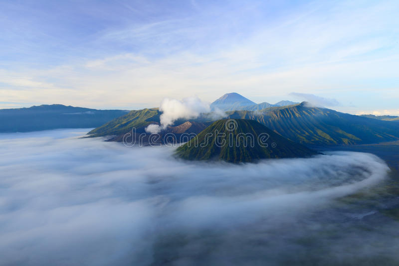 Bromo-Vulkan in Indonesien stockbild